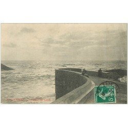 carte postale ancienne 64 BIARRITZ. Coucher de Soleil 1910