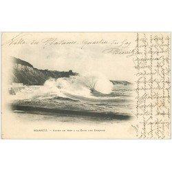 carte postale ancienne 64 BIARRITZ. Effets de Vagues 1903