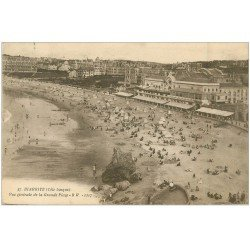 carte postale ancienne 64 BIARRITZ. Grande Plage 1921