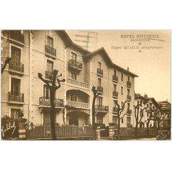 carte postale ancienne 64 BIARRITZ. Hôtel Britannia Avenue Reine Victoria 1951