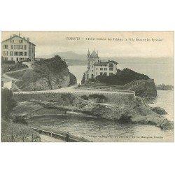 carte postale ancienne 64 BIARRITZ. Hôtel Château des Falaises, Villa Belza