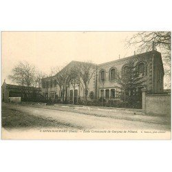 carte postale ancienne 11 CASTELNAUDARY. Ecole Communale de Garçons