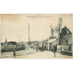 carte postale ancienne 11 CASTELNAUDARY. Moulins de Saint-Roch 1916. Tampon du Dépot du 146° de L.