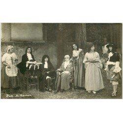 carte postale ancienne 11 CASTELNAUDARY. Une Pièce de Théâtre 1926. Photo Ramon