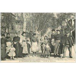 carte postale ancienne 11 CONILHAC-DU-PLAT-PAYS. Avenue de Narbonne. Carte notice