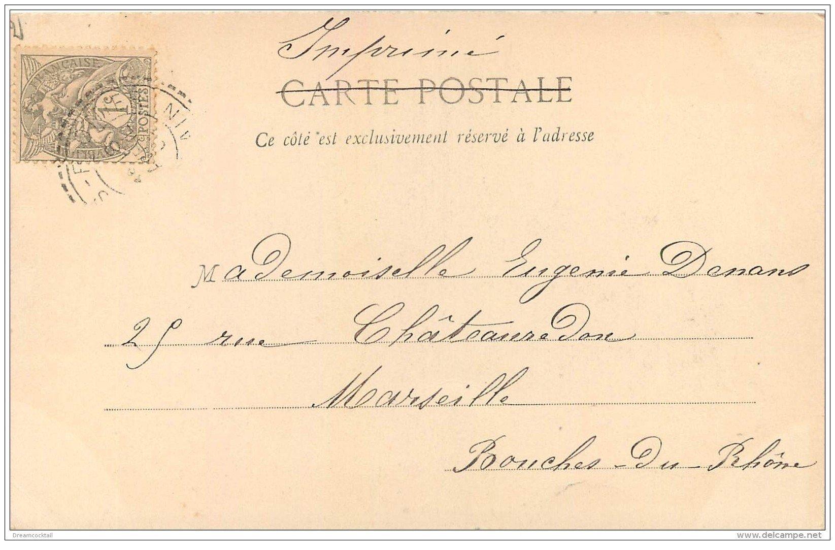 carte postale ancienne 01 BOURG. Eglise de Brou. 1902 Ed. Montbarbon