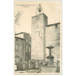 carte postale ancienne 11 CONILHAC-DU-PLAT-PAYS. L'Horloge. Carte notice