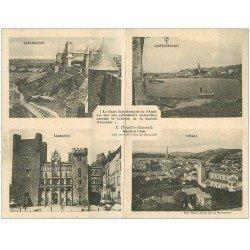 11 Départements de l'AUDE 1916. Carte double. Honneur aux Mutualistes. Narbonne, Limoux, Castelnaudary et Carcassonne
