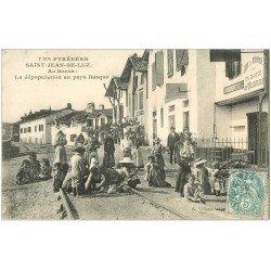 carte postale ancienne 64 SAINT-JEAN-DE-LUZ. Au Socoa dépopulation au Pays Basque 1906. Buvette ici on garde les Vélocipèdes