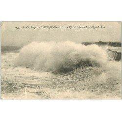 carte postale ancienne 64 SAINT-JEAN-DE-LUZ. Effet de Mer