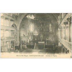 carte postale ancienne 64 SAINT-JEAN-DE-LUZ. Eglise intérieur