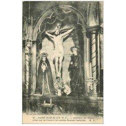 carte postale ancienne 64 SAINT-JEAN-DE-LUZ. Jésus et les Saintes Femmes habillées