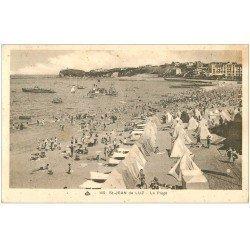 carte postale ancienne 64 SAINT-JEAN-DE-LUZ. La Plage 1931