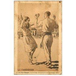 carte postale ancienne 64 SAINT-JEAN-DE-LUZ. Le Fadango