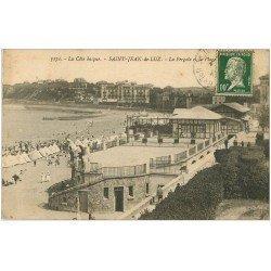 carte postale ancienne 64 SAINT-JEAN-DE-LUZ. Pergola et Plage