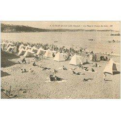 carte postale ancienne 64 SAINT-JEAN-DE-LUZ. Plage à l'Heure du Bain