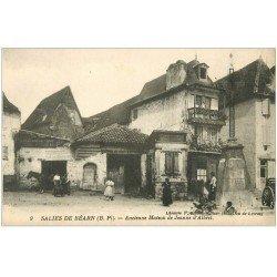 carte postale ancienne 64 SALIES-DE-BEARN. Ancienne Maison Jeanne Albret