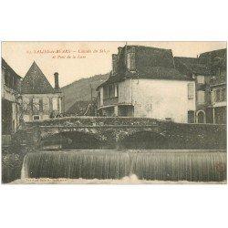 carte postale ancienne 64 SALIES-DE-BEARN. Cascade et Pont de la Lune