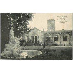 carte postale ancienne 64 SALIES-DE-BEARN. La Mude. Voiture ancienne Etablissement Thermal 1920