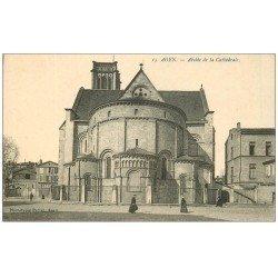 carte postale ancienne 47 AGEN. Abside de la Cathédrale