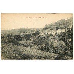 carte postale ancienne 47 AGEN. Faubourg de Rouquet 1918