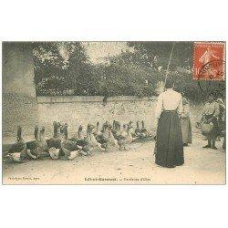 carte postale ancienne 47 AGEN. Gardeuse d'Oies 1907 Vieux métiers