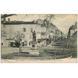 carte postale ancienne 47 AGEN. Place Jasmin Boulevard de la République 1919