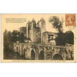 carte postale ancienne 47 BARBASTE. La Moulin des Tours ou Henri IV 1929
