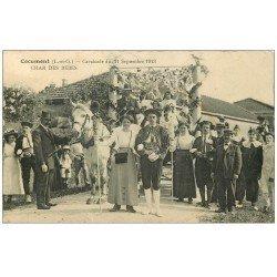 carte postale ancienne 47 COCUMONT. Cavalcade en 1913. Char des Bébés