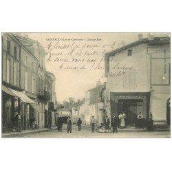 carte postale ancienne 47 GONTAUD. Grande-Rue 1911