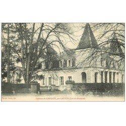 carte postale ancienne 47 LAUZUN. Château de Lescaut 1910