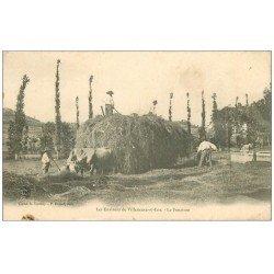 carte postale ancienne 47 VILLENEUVE-SUR-LOT. La Fenaison 1906. Métiers de la Campagne