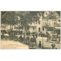 carte postale ancienne 47 VILLENEUVE-SUR-LOT. Marché aux Prunes Boulevard Palissy