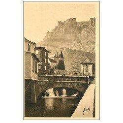 carte postale ancienne 48 FLORAC. Le Pêcher et Château