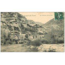 carte postale ancienne 48 GORGES DU TARN. Château de la Caze 1908