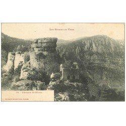 carte postale ancienne 48 GORGES DU TARN. Ermitage Saint-Michel vers 1900