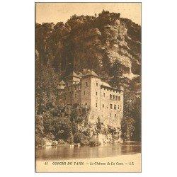 carte postale ancienne 48 GORGES DU TARN. Le Château de la Caze 1928