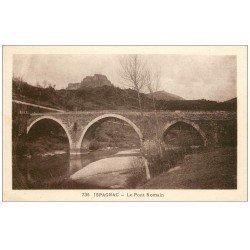 carte postale ancienne 48 ISPAGNAC. Pont Romain