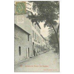 carte postale ancienne 48 LE ROZIER. Grand Hôtel des Voyageurs vers 1900