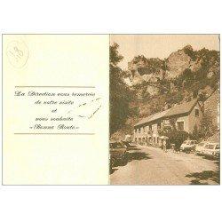 carte postale ancienne 48 LES DOUZES. Hôtel Restaurant de la Jonte. Carte addition pliable en deux