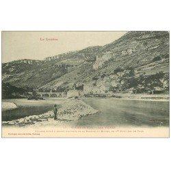 carte postale ancienne 48 LES VIGNES. Pont du Village vers 1900