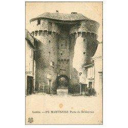 carte postale ancienne 48 MARVEJOLS. Porte du Soubeyran
