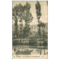 carte postale ancienne 48 MENDE. Bords du Lot et Cathédrale 1934