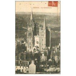 carte postale ancienne 48 MENDE. La Cathédrale 1907