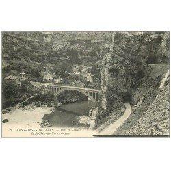 carte postale ancienne 48 SAINTE-CHELY-D-TARN. Pont et Tunnel