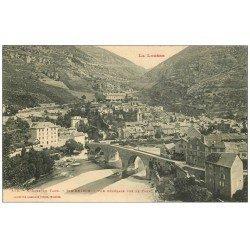 carte postale ancienne 48 SAINTE-ENIMIE. La Ville et vue sur le Tarn 572