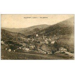 carte postale ancienne 48 VILLEFORT. Le Village