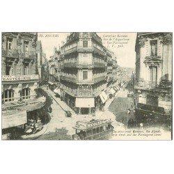 carte postale ancienne 49 ANGERS. Café Rameau Rue de l'Aiguellerie et Plantagenet