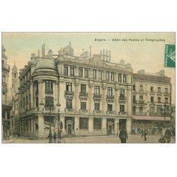 carte postale ancienne 49 ANGERS. Carte toilée. Hôtel des Postes et Télégraphes 1908