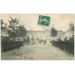 carte postale ancienne 49 ANGERS. Caserne du 6° Génie 1910. Militaires et Régiments